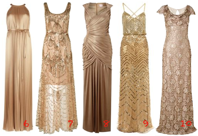 Long dress gold xmas