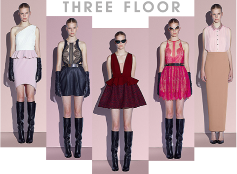 Three Floor Dresses